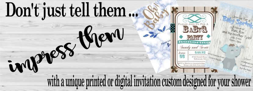 slide 1 Couples Baby Shower Invitations