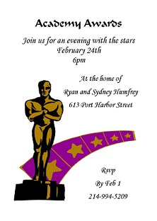 Academy Awards Party Invitations And Oscar Invitations New