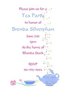 Bridal shower invitations around the house around the clock tea party invitations stopboris Choice Image