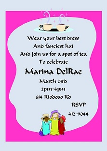 Tea party invitations for children tea party invitations design sar 1061 dressup tea stopboris Images