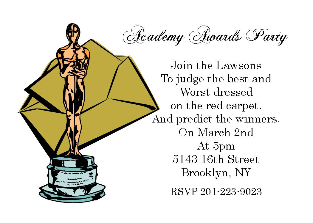 Academy awards party invitations and oscar invitations new academy awards party invitations oscar awards party invitations stopboris Image collections
