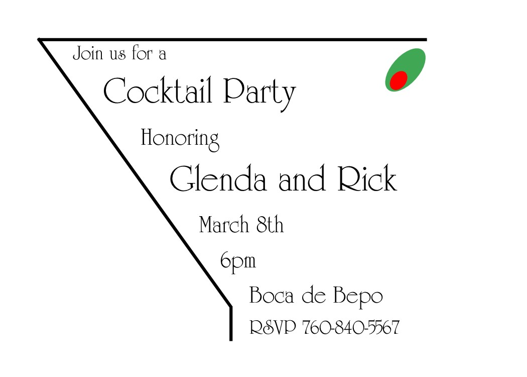 Christmas Cocktail Company Party Invitations