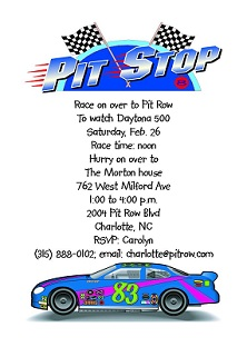 Nascar party invitations daytona 500 2018 nascar party invitation filmwisefo Choice Image