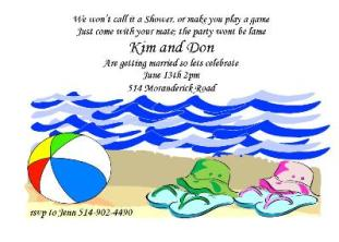Engagement Pool Party Invitations
