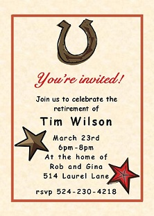 Country and Western Party invitations NEW selections Summer 2018