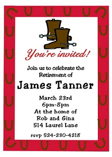 country and western party invitations - Horse Party Invitations