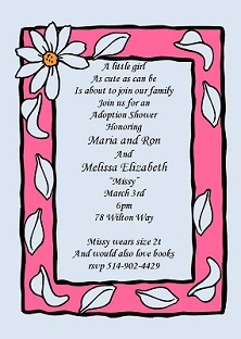 baby and children adoption shower invitations new selections fall, invitation samples
