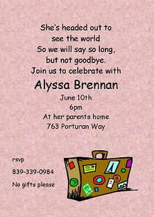 going away party invitations - Goodbye Party Invitation