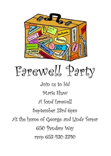 Going away party invitations new selections fall 2018 going away party invitations sar1376 farewell suitcase stopboris Image collections