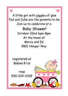 Girl Baby Shower Invitations spring 2015