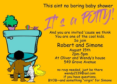 couples baby shower party invitations