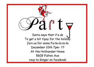 Christmas Holiday Company Party Invitations