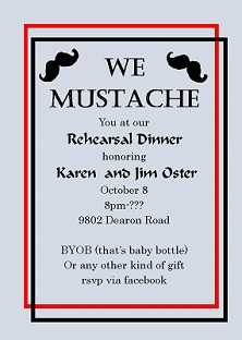 Rehearsal Dinner Invitations NEW selections Winter 2017