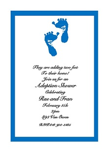 Baby and Children Adoption Shower invitations NEW selections Summer 2018