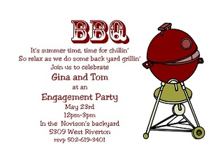 BBQ - Engagement Party Invitation