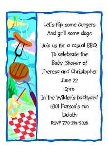 Summertime - BabyQ Baby Shower Party Invitations
