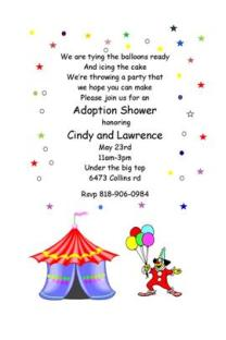 adoption shower party invitations - Adoption Party Invitations