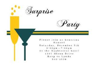 surprise party invitations new selections spring, Party invitations