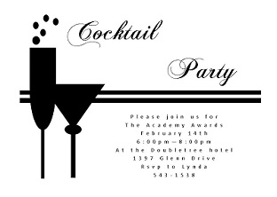 Couple of Cocktails - academy awards party Invitations
