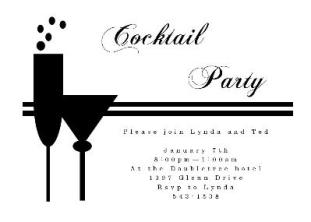 Cocktail Invite Wording for best invitation design