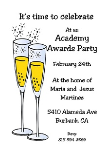 Couple of Cocktails - academy_awards party Invitations