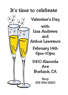 Couple of Cocktails - valentine party Invitations