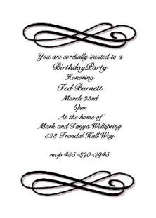 Black and White Party Invitations NEW selections Spring 2017