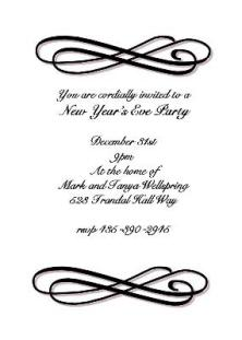 New years eve party invitations 2018 new years eve party invitations sar572 formal swirl stopboris Images