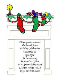 Holiday Winter Dinner Party Invitations