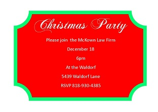 WinterHoliday Company Party Invitations