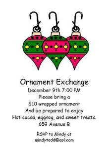 Christmas ornaments Company Party Invitations