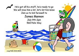 Going Away Party Invitations New Selections Summer 2019