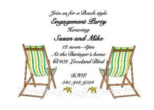 Beach Charis - engagement Party Invitations