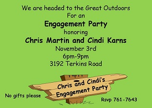 Great Outdoors - engagement Party Invitations