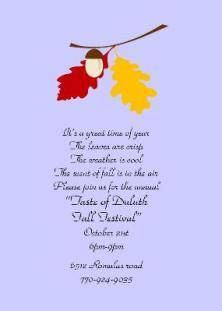 Party Tree - Fall Party Invitation