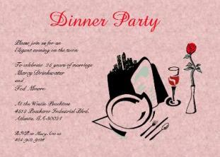 Formal dinner party table - Dinner Party Invitations New Selections Summer 2017