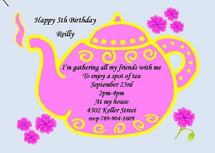 csar, Party invitations