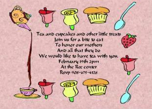 Tea Party Invitations For Adults And Children NEW Selections Spring
