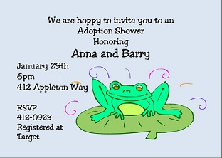 Adoption birth announcements new selections spring 2018 hoppy adoption baby shower party invitations filmwisefo Gallery