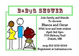 BabyQ Baby Shower Party Invitations