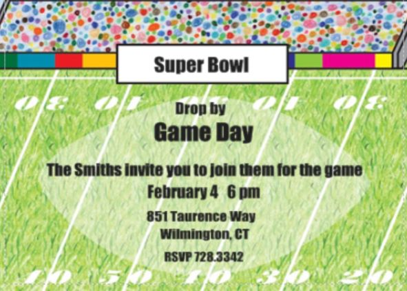 Super bowl party invitations templates search results for Super bowl party invitation template