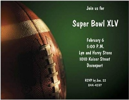 super bowl party invitation template Template
