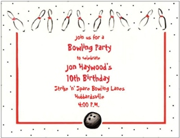 bowling party invitations new selections summer, invitation samples