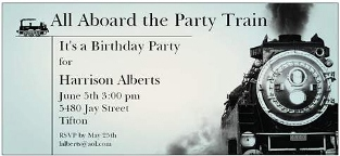 train party invitations new selections spring, Party invitations