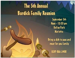 Design 560 Family Reunion - BabyQ Baby Shower Party Invitations