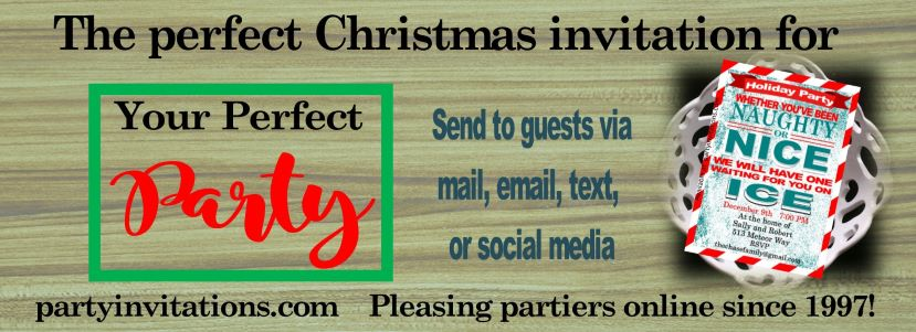 Christmas Party Initations slide 2