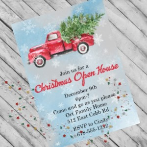 Christmas Open House Party Invitations