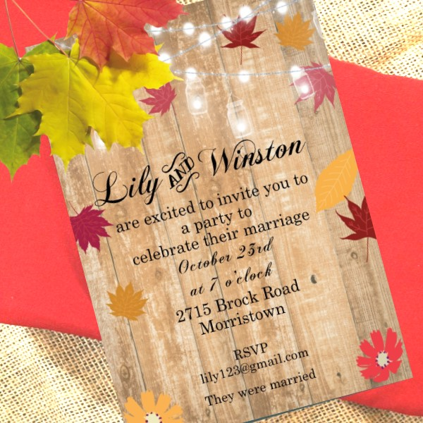 Autumn Invitations