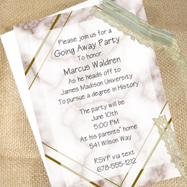 Going Away Invitations