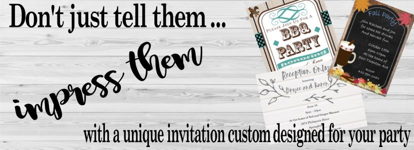 party invitations printed or digital newly designed 2018